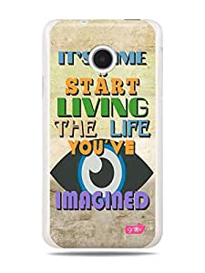 GRÜV Premium Case - 'Time to Start Living Inspirational Motivational Quote' Design - Best Quality Designer Print on White Hard Cover - for Huawei Ascend Y330