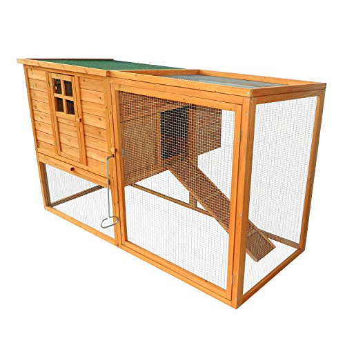Pawhut 64'' Chicken Coop Hen House w/ Nesting Box and Outdoor Run by PawHut (Image #8)