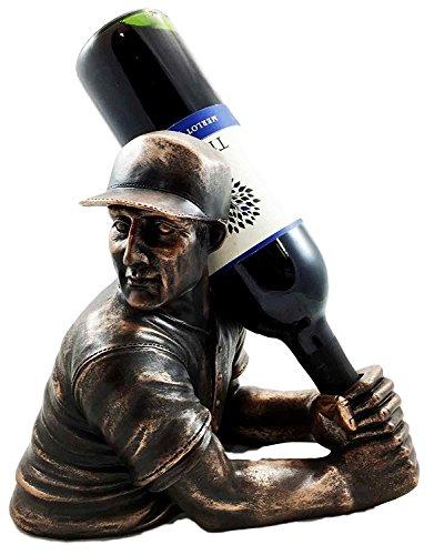 Focus Home Run Batting Baseball Star Player Slugger Wine Bottle Holder Figurine Great Gift For Baseball Fans