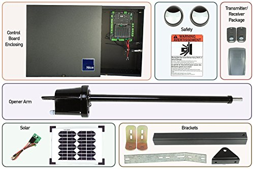 Apollo 1550 Single Gate Opener DIY Kit with Solar Panel (Solar, 30 Watt)