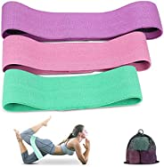Resistance Bands, TEUMI Non-Slip Exercise Bands for Legs/Butt/Thigh, Women/Men Strength Training Elastic Booty