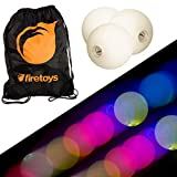 Glow Juggling Ball Set - 3x Slow Fade LED Juggling Balls & Firetoys Bag
