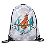 LnEir Miami Sports Baseball Logo Mixed Durable Cinch Pack Outdoor Valise Bag
