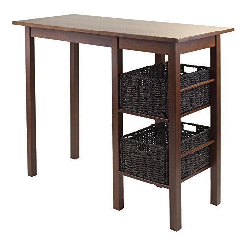 Cheap Winsome Wood Egan 3-Piece Breakfast Table with 2 Baskets Set
