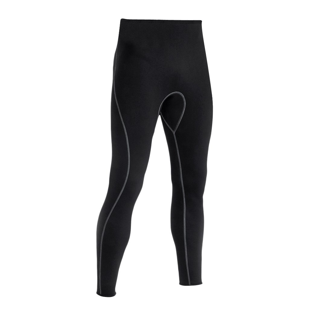 5024370c0b Amazon.com  MonkeyJack Men Black Wetsuit Pants Super Stretch Neoprene  Snorkeling Scuba Surf Canoe Diving Long Pants Trousers - Black