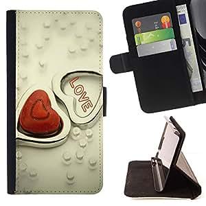 For Motorola Moto E ( 1st Generation ) Case , AMOR Collar- la tarjeta de Crédito Slots PU Funda de cuero Monedero caso cubierta de piel