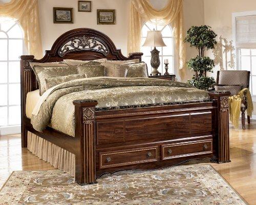 Ashley Furniture Signature Design - Gabriela Poster Headboard - King - Traditional - Dark Reddish Brown price