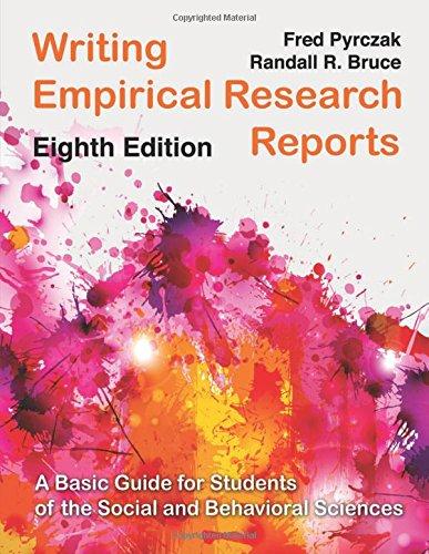 Writing Empirical Research Reports (Pb)
