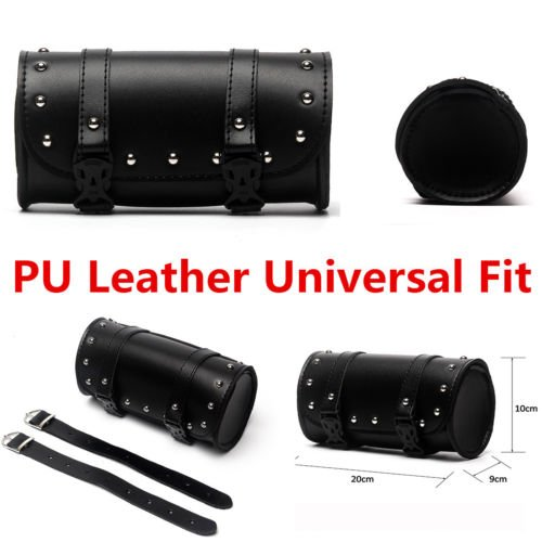 Leather Motorcycle Roll Bags - 4