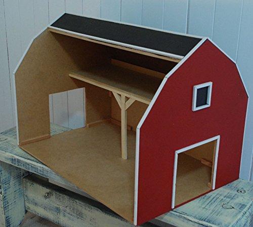Red Toy Barn with Hay Loft, Pretend Farm, Play House Horse Barn, Tractor Barn, Little Boys Barn, Barn Door, Barn Wood by Loveofbeach