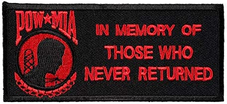 POW In Memory of Those Red Patch POW MIA Patches