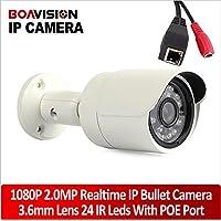 Boavision 2.0mp 19201080 Security Network Ip Camera Outdoor Waterproof 3.6mm Lens Ir-cut Mini Bullet POE Ip Camera 1080p Night Vision P2p for Onvif Nvr