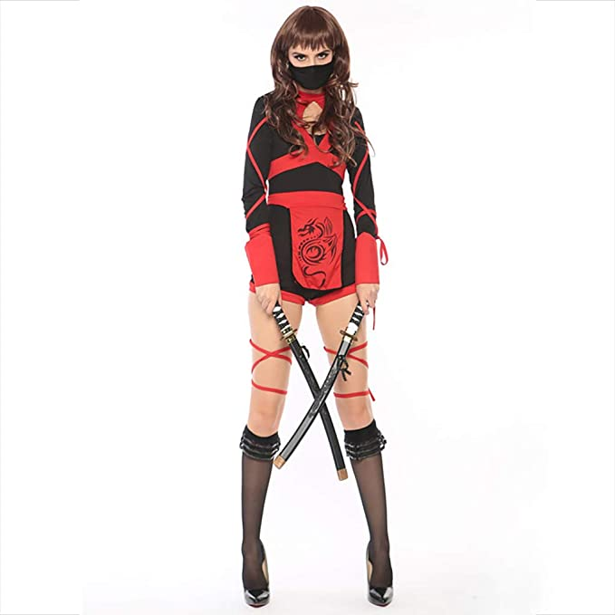 Halloween Cosplay Japonés Bushido Estilo Vintage Vestido ...