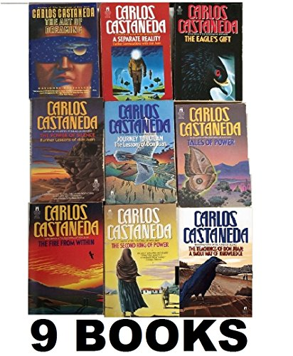 Carlos Castaneda's 9 Book Set: The Teachings of Don Juan, A Separate Reality, Journey to Ixtlan, Tales of Power, The Second Ring of Power, The Eagle's Gift, 7.	The Fire From Within, The Power of Silence, The Art of Dreaming