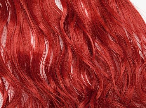 Extensión con hilo invisible Pelo ondulado rizado Falso Largo 50cm Banda simple Alambre transparente - Extensiones de cabello de una pieza 3/4 Cabeza ...