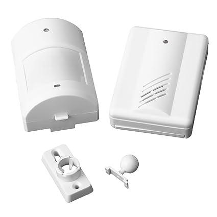 SuntekStore Online - Monitor de alarma infrarrojo inalámbrico entrada timbre -, color blanco