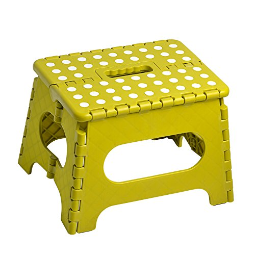 KDKD Folding Step Stool with Anti-Slip Surface for Kids Adults with Handle Hold 300 LBS, Grass Green Folding Step Stool