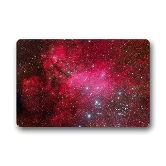 """Custom Evergreen Fashion Galaxy nebulosa espacio arte diseño máquina lavable Felpudo personalizado puerta Pad alfombra 23.6""""(L) X 15,7(W) (pequeño tamaño)"""