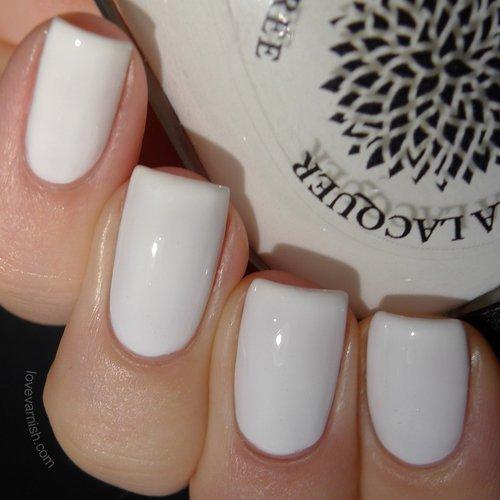 Oriental Lilies | Solid White Nail Polish Creme | by Black Dahlia Lacquer by Black Dahlia Lacquer LLC