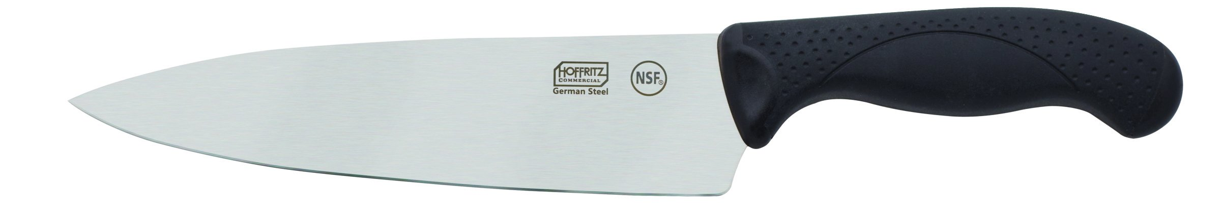 Hoffritz 5190089 Commercial Top Rated German Steel Chef Knife with Non-Slip Handle for Home and Professional Use, 8-Inch, Black
