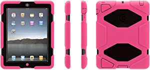 Griffin Pink/Black Survivor All-Terrain Case + Stand for iPad 2, 3, and 4th Gen - Extreme-Duty case for iPad 2 and iPad 3