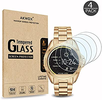 f3d3ce1cae0e AKWOX (4-Pack) Tempered Glass Screen Protector for Michael Kors MKT5001