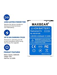 Batería V20, MAXBEAR [3200mAh] Batería de iones de litio de repuesto para LG V20 BL 44E1F H918 (T Mobile),H910 (AT&T),VS995 (Verizon),H990 (US Cell),LS997 (Esprintación) V20 Batería de repuesto