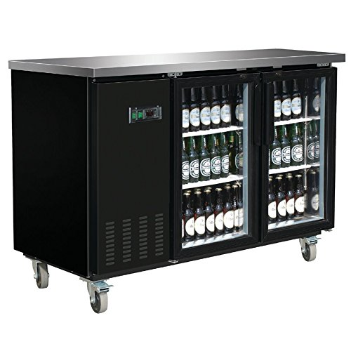 Omega Juicers DUURA DVBB60G X-Series Back Bar Cooler, Black