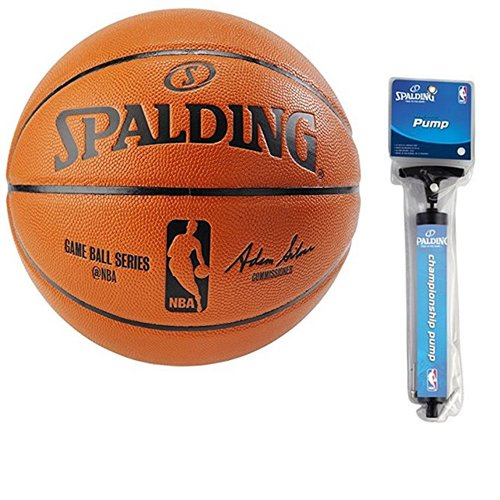 Spalding NBA Indoor/Outdoor Official Size Replica Game Ball (Official Size 7 (29.5