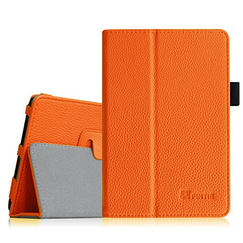 Fintie Premium PU Leather Case Cover for TOPELOTEK 7, NeuTab 7 Tablet NeuTab N7 Pro, Alldaymall 7 (Third Generation), Dragon Touch Y88X Plus 7 and More 7 Inch Tablet with Same Design, Orange