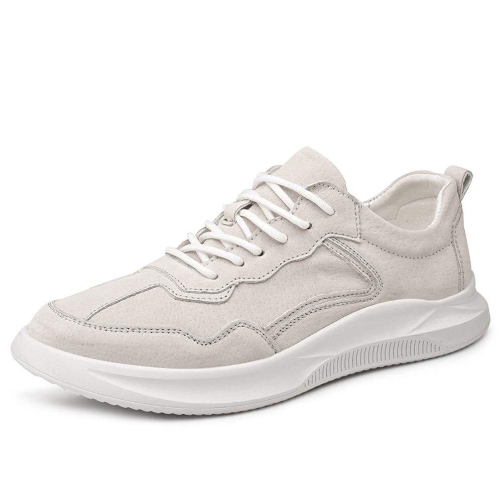 White 9 M US Mamrar Men's Casual Sports shoes Women's shoes with A Simple Style Solid color Comfortable Round Head EU Size 3844 Mamrar