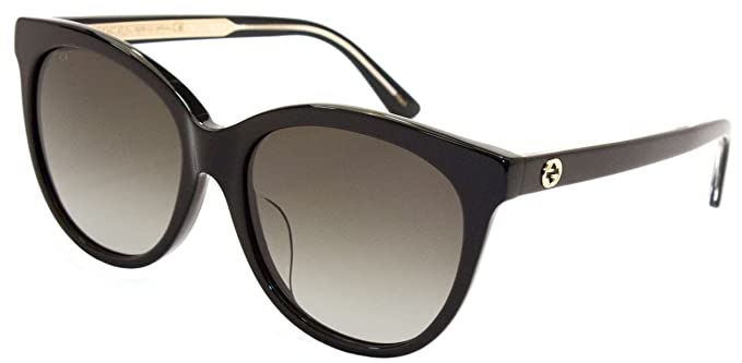 a29aab6a8b Amazon.com  Gucci GG0047S Sunglasses 003 Havana   Brown Lens 56 mm ...