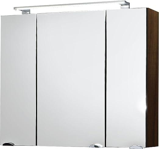 Posseik 5681 78 Spiegelschrank Rima 80 Cm Breit Walnuss Amazon De Kuche Haushalt