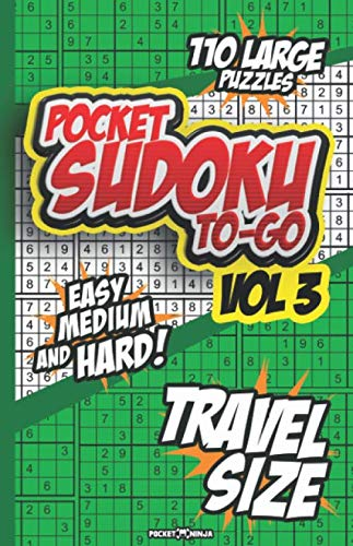 POCKET SUDOKU TO-GO: Ideal for Math Challenge and Sudoku Lovers on the Go. ()
