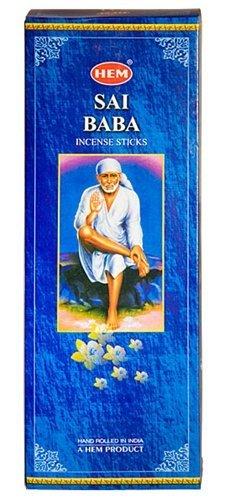 Sai Baba - Box of Six 20 Gram Tubes (120 Sticks) - HEM Incense