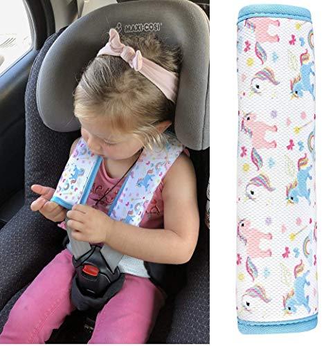HECKBO 1x car unicorn girl seatbelt protection shoulder pad seatbelt cover shoulder pad car seats seatbelt pad for children & adults: