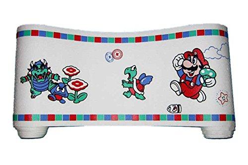 Super Mario Brothers Nintendo Wallpaper Border - VINTAGE (Bowser) (Full Vintage Wallpaper Border)