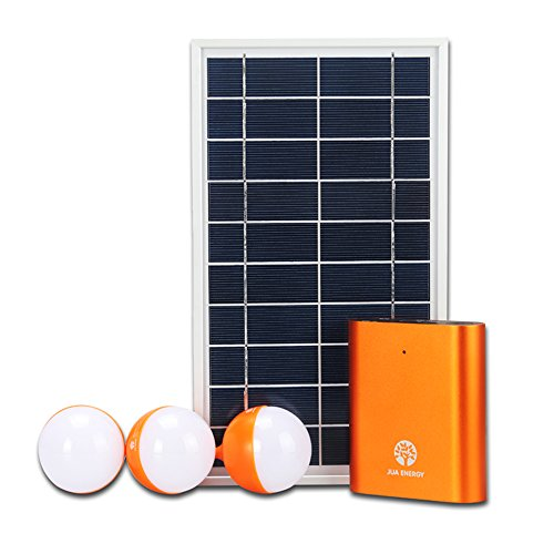 UHURU@ Solar Generator Light Energy System Plus Battery Charger (3 130-lumen Light, 6m line with Switch, LIFePO4 9200mA Battery) RLG Solar Power And Accessories