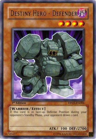 Yu-Gi-Oh! - Destiny Hero - Defender (DP05-EN006) - Duelist Pack 5 Aster Phoenix - 1st Edition - Rare - Aster Phoenix Duelist Pack