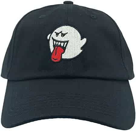 2b21c012bb062 Ghost Hat Dad Hat Baseball Cap Embroidered Adjustable(Black)