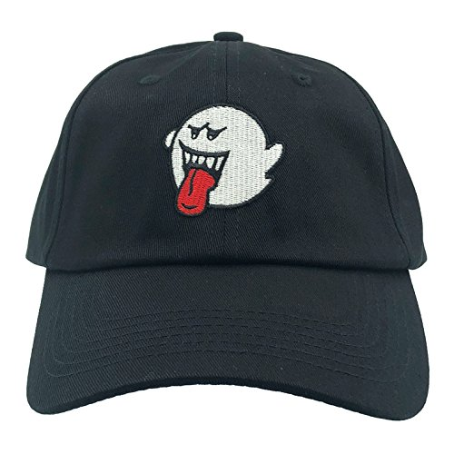 Boo Cap (CUSTOM Ghost Hat Dad Hat Baseball Cap Embroidered Adjustable(Black))