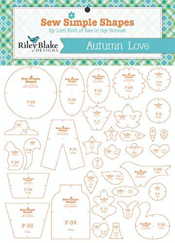 Sew Simple Shapes - Quilt Template Set by Lori Holt (Autumn Love) by Riley Blake Designs