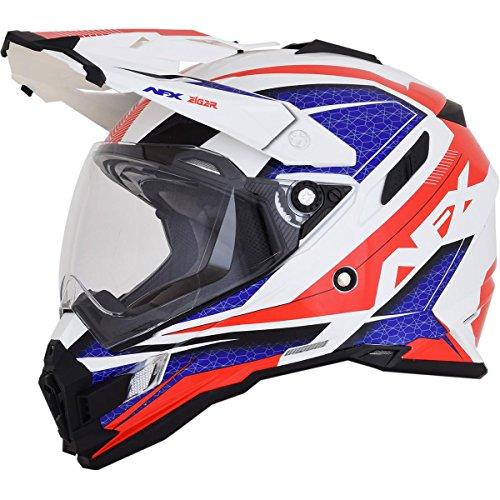 AFX 0110-5347 FX-41DS Red/White/Blue Eiger Helmet (Red/White/Blue, ()