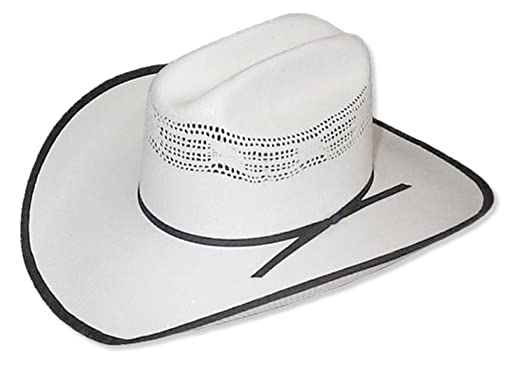 09fae66d58c12 Outlaw Hat Co. Bangora Cowboy Hat With Black Trim White 6 5/8 at ...
