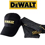 DeWALT Mens Crew Socks | Black Cotton Boot Socks