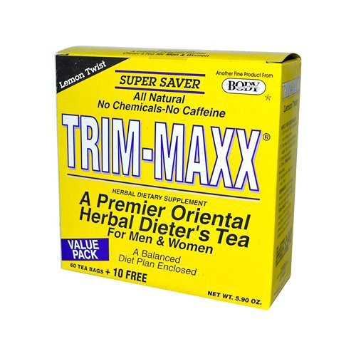 Body Breakthrough Diet Trim-Maxx Tea Lemon, 60 Count by Body Breakthrough ()