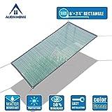 Alion Home HDPE 50% Sun Block Garden Netting Mesh (6'x3'4'', Green)