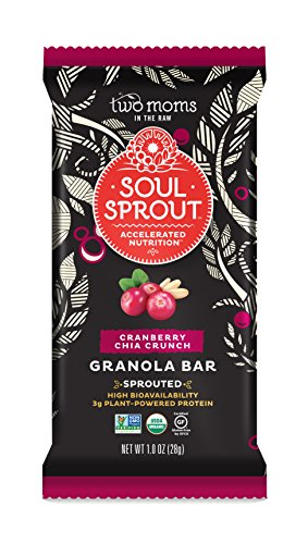 Two Moms in the Raw Soul Sprout Gluten Free Granola Bars, Cranberry Chia Crunch