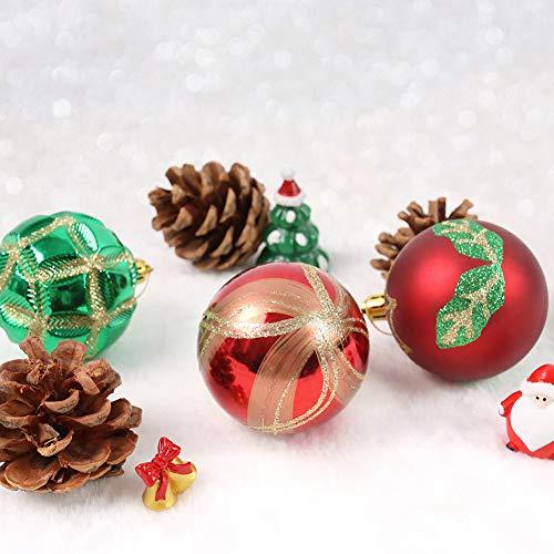 DomeStar Christmas Ball Ornaments, 24PCS 2.4 Inch Christmas Baubles Christmas Tree Decorations Tree Balls Christmas Decorations