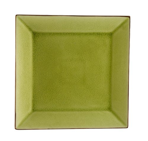 Style Square Japanese Plate (CAC China 6-S16-G Japanese Style 10-Inch Golden Green Square Plate, Box of 12)